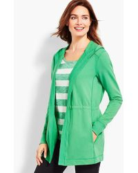 Talbots - Pigment-dyed Terry Cardigan - Lyst