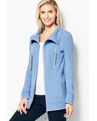 5619c2b33024 PUMA Ladies Evening Blue Exposed Zip Block Piqué Track Jacket in ...