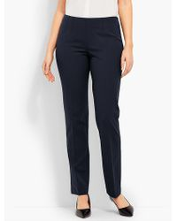 Talbots - Refined Bi-stretch Side-zip Straight-leg - Curvy Fit - Lyst