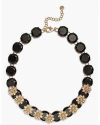 Talbots - Layered Flowers And Stones Linear Necklace - Lyst