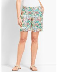 "Talbots - 7"" Girlfriend Chino Short-santorini - Lyst"