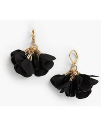 Talbots - Fabric Flower Earrings - Lyst