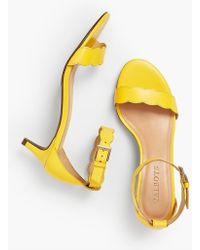 Talbots - Pila Kitten-heel Sandals - Vachetta Leather - Lyst