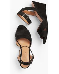 Talbots - Vivian Wedge Sandals - Kid Suede - Lyst