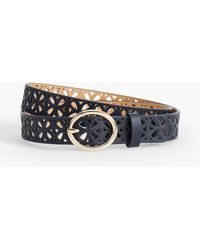 Talbots - Perforated Leather Belt - Lyst