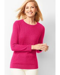 Talbots - Cable Crewneck Sweater - Lyst