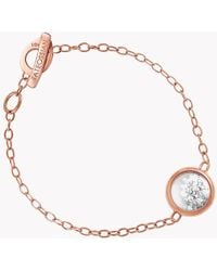 Tateossian - Diamond Dust Silver Bracelet With Rose Gold Finish - Lyst