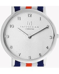 Tateossian - Regatta - Guilloché Watch In Navy, Orange And White - Lyst