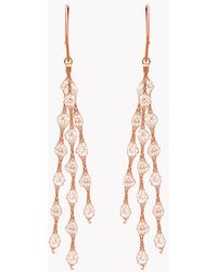 Tateossian | Liquid Diamonds Rose Gold Plated Silver Earrings | Lyst