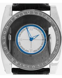 Tateossian | Gulliver Flottante Watch In Silver Colour Finish And Blue Enamel | Lyst