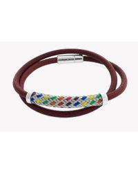 Tateossian - Silver Pop Kaleidoscope Bracelet In Red - Lyst