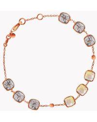 Tateossian | 14k Rose Gold Belgravia Bracelet With Gold And Black Rutilated Quartz | Lyst