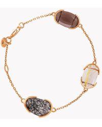 Tateossian - 18k Rose Gold Mayfair Bracelet With Quartz - Lyst