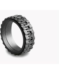 Tateossian - Mechanical Silver Rings - Ruthenium Matte - Lyst