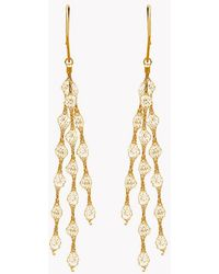 Tateossian | Liquid Diamonds Yellow Gold Plated Silver Earrings | Lyst