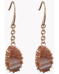 Tateossian - Geode Long Drop Silver Earrings In Pink - Lyst