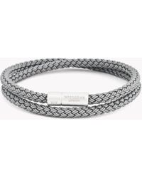 Tateossian - Rt Rubber Cable Bracelet In Grey - Lyst
