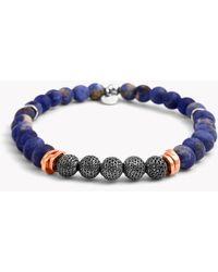 Tateossian - Stonehenge Silver Bracelet - Small Beads - Lyst