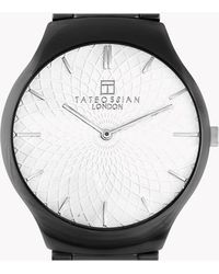 Tateossian - Keramikos Guilloche Watch In Ceramic With A White Mother Of Pearl Face - Lyst