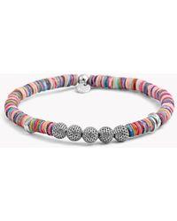 Tateossian - Seychelles Mesh Silver Bracelet In Multicolour - Lyst