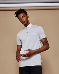 Ted Baker - Soft Touch Oxford Polo Shirt - Lyst