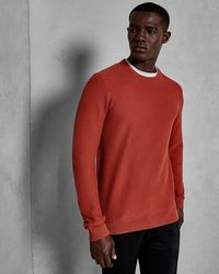 Ted Baker - Textured Cotton Jumper - Lyst