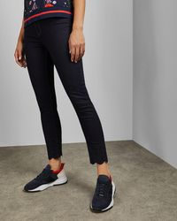 Ted Baker - Dark Wash Embroidered Jeans - Lyst