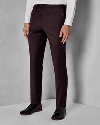 Ted Baker - Sterling Flannel Suit Trouser - Lyst