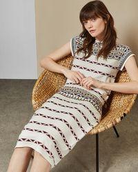 Ted Baker - Coari Geo Pattern Knit Skirt - Lyst