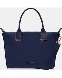 04dc7b127ee674 Ted Baker Jaceyy Shopper Bag in Blue - Lyst
