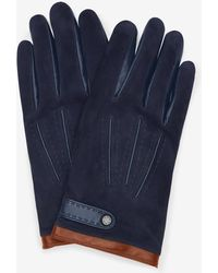 Ted Baker - Suede Glove With Press Stud - Lyst