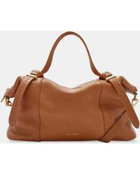 Ted Baker - Knotted Handle Large Leather Tote Bag - Lyst