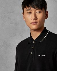 Ted Baker - Pique Polo Shirt - Lyst