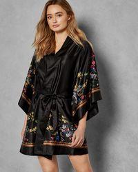 Ted Baker - Opulent Fauna Kimono Robe - Lyst