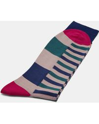 Ted Baker - Striped Block Cotton Socks - Lyst