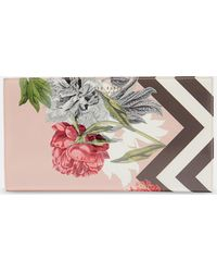 Ted Baker - Palace Gardens Patent Leather Travel Wallet - Lyst