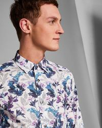 Ted Baker - Classic Fit Floral Shirt - Lyst