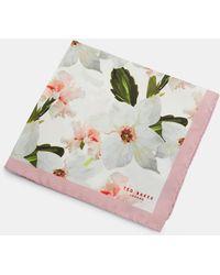 Ted Baker - Chatsworth Bloom Silk Pocket Square - Lyst