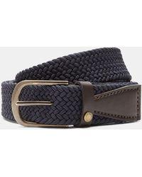 Ted Baker - Elastic Woven Leather Belt - Lyst