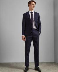 480a8cbe4 Lyst - Ted Baker Debonair Linen Trousers for Men