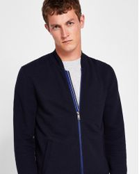 Ted Baker - Quilted Jersey Bomber Jacket - Lyst