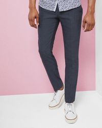 Ted Baker - Semi Plain Wool-blend Trousers - Lyst