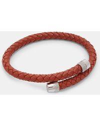 Ted Baker - Knurling Leather Bracelet - Lyst