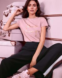 Ted Baker - Champagne Logo Fitted T-shirt - Lyst