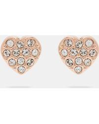 Ted Baker - Crystal Heart Stud Earrings - Lyst