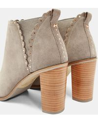378985ad33b Ted Baker - Scallop Stud Detail Heel Boots - Lyst