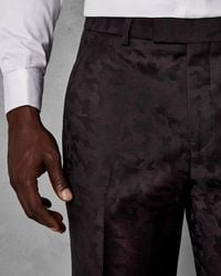 Ted Baker - Camouflage Merino Wool Suit Trousers - Lyst