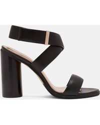 a11ff26f803e79 Dorabow Satin Knotted Bow Court Shoes. £140 £84 (40% off). House of Fraser  · Ted Baker - Circular Heel Strap Sandal - Lyst