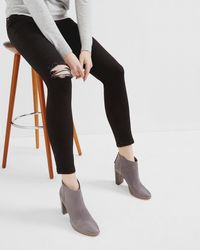 Ted Baker - Ripped Skinny Jeans - Lyst