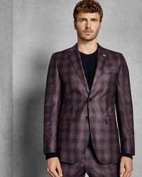 2b6ee50d8f58 Ted Baker Global Luxe Semi-plain Suit Jacket in Blue for Men - Lyst